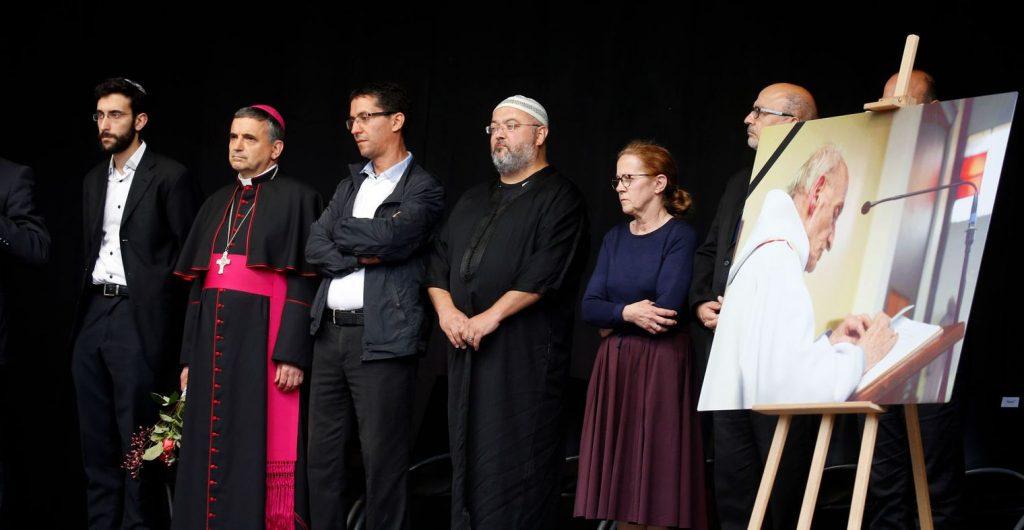 Plusieurs représentants religieux ont assisté à l'hommage au père Jacques Hamel..REUTERS